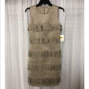 CALVIN KLEIN SUEDE DRESS